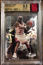 1998 UD Black Diamond #10 Michael Jordan+Game Used RED PATCH BGS 9.5 Bulls MJ