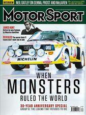 Revista Motorsport diciembre de 2016: grupo B han movilizado 30 años en