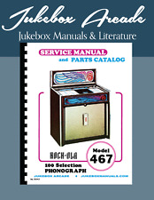 NEU! Rock Ola Modell 467 Komplett Service Manual und Parts Catalog