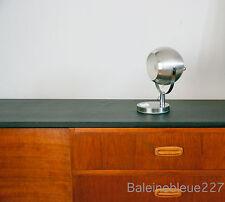 French Vintage Mid 20th century modern eyeball Table Lamp Aluminium Chrome Spot