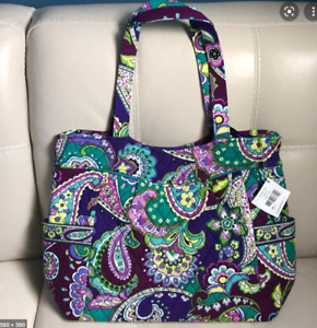 NEW Vera Bradley Pleated Large Tote in Heather purple Large Tote BAG Free ship