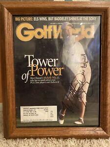 MICHELLE WIE signed / autographed Magazine Framed Golf world Ko Olina Golfcourse