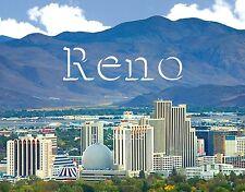 Nevada - Reno Daytime Skyline - Travel Souvenir Fridge Magnet