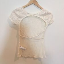 NWT Urban Outfitters Cream Lace Backless Top XS