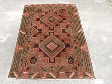 3x5ft. Geometric Tribal Persian Handmade Wool Rug
