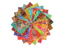 """20 10"""" Quilting Fabric Squares Beautiful Batiks #2/ 2/20 different color/Buy Now"""