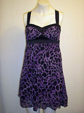 Gorgeous Black & Purple Strappy Dress from Jane Norman - Size 8 - BNWOT!!