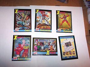 1991 Marvel X-FORCE Promo 6 card set! DEADPOOL ROOKIE CARD! IMPEL COMICS CABLE!