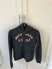 Navy Abercrombie And Fitch Kids XL zip Hoodie
