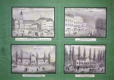 Pressburg Bratislava Slowakei 4 Lithographien bei Höfelich/Strohmeier ca. 1840