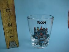 Vintage *** Personalized RON *** Excalibur Hotel Casino Las Vegas Shot Glass USA