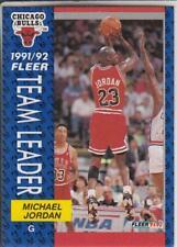 1992 FLEER MICHAEL JORDAN 1991/92 TEAM LEADER CARD BULLS