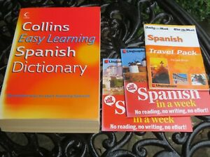 SPANISH Dictionary (Collins) NEW + CDs & Phrase Book
