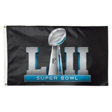 Super Bowl 52 Lii Nfl Logo Deluxe Edition 3'x5' Flag Nwt! Free Shipping!