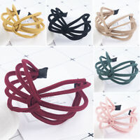 Charm Headband Twist Hairband Bow Knot Cross Tie Cloth Headwrap Hair Band Hoop