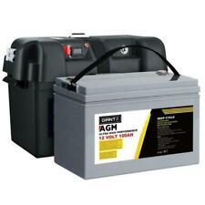 Giantz AGM 12V 100AH Ultra High Performance Deep Cycle Rechargeable Battery & Box