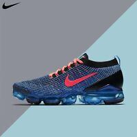 Nike Men's Air Vapormax Flyknit 3 Blue Fury Flash Crimson 2019 New AJ6900-401