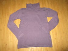 Tee-shirt col roulé,vioet rayé noir,T10ans,marque CFK,en TBE