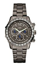 GUESS W0016L3 Women's Watch Lady B Stainless Steel Wrist Watch Gun Metal