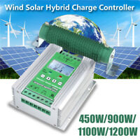 LCD Wind Solar Hybrid Charge Controller MPPT Boost Charge 12/24V Auto 900/1200W