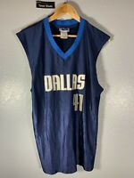 NBA Dirk Nowitzki Blue Basketball #41 Jersey