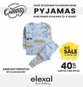 Pure 100% Cotton Pyjama Set Sleepsuit Bodysuit For Girls Boys Airplane Fit