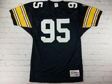 Vintage Greg Lloyd #95 Pittsburgh Steelers NFL Wilson Football Jersey Adult Med