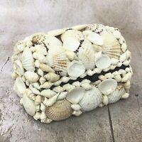 Seashell Trinket Jewelry Treasure Box Beach Coastal Vintage Sea Shell 4 Inch