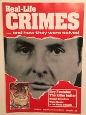 Real-Life Crimes Magazine #9 Killer Butler Roy Fontaine CSI True Crime Murderers