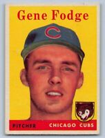 """1958  GENE FODGE - Topps Baseball """"ROOKIE"""" Card # 449 - CHICAGO CUBS - VINTAGE"""