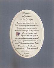 GRANDPARENTS Encourage MEMORIES Joy GRANDMA & GRANDPA Love verses poems plaques