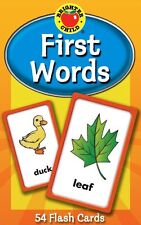 First Words Flash Cards (Brighter Child Flash Cards) Cards NEW