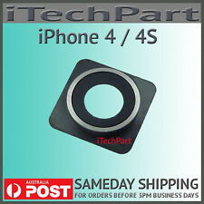 Back Rear Camera Module Lens Cover Replacement For iPhone 4 / 4S