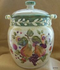 Certified International La Toscana Gladdings Large Canister with Lid 9.5""