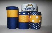 GROSGRAIN SAN DIEGO CHARGERS FOOTBALL RIBBON LOT FOR MAKING BOWS 10 YDS