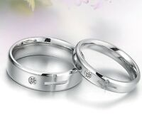 R126 Lovers ring Titanium Steel Promise Ring Couple Wedding Bands wholesale gift
