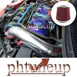RED 1995-1999 DODGE PLYMOUTH NEON 2.0 2.0L L4 AIR INTAKE KIT SYSTEMS + FILTER