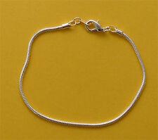 One x silver plated snake chain bracelet, 1.9mm diameter