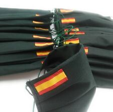 Mascarilla con Bandera de España verde milirar -Envio rapido! -No Islas Baleares