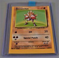 Base Set Hitmonchan, Holo, Miss-Cut, Error Card, Near Mint, Pokemon, WOTC 1999