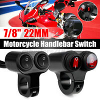 12V 10A Motorcycle Handlebar Headlight Fog Spot Light Waterproof On Off Switc FP