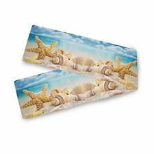 New listing Starfish And Seashells On The Beach With Blue Sky Table Runner 13x70 inch for.