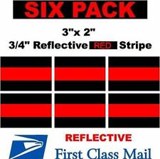 """6 Pack 3"""" X 2"""" Thin Red Line Window Decal Stickers Firefighter"""
