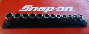 "Snap On Tools 3/8"" Drive 12 Pc Metric Shallow Chrome Socket Set 212FSMY 8-19mm"