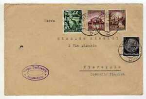 9601) Germany 1938 Cover Netzschkau Viareggio (Lu)