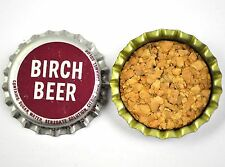 VINTAGE Birch BIRRA ROSSO TAPPO BOTTIGLIA USA Soda bottiglia tappo
