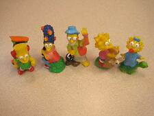 Burger King 1990 Simpsons Kids Club Meal - Complete Set of All 5 Figures - Loose