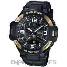 *NEW* CASIO G-SHOCK MENS AVIATION TWIN SENSOR GOLD WATCH - GA-1000-9G - RRP £260