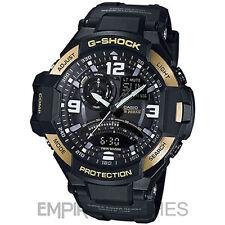 * Nuevo * Casio G-Shock para hombre aviación gemelo Sensor Reloj De Oro-GA-1000-9G - RRP £ 260