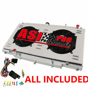 3 ROW Radiator+Shroud Fan+Relay FOR Nissan PATROL GU Y61 2.8 3.0L 4.2L ZD30/RD28